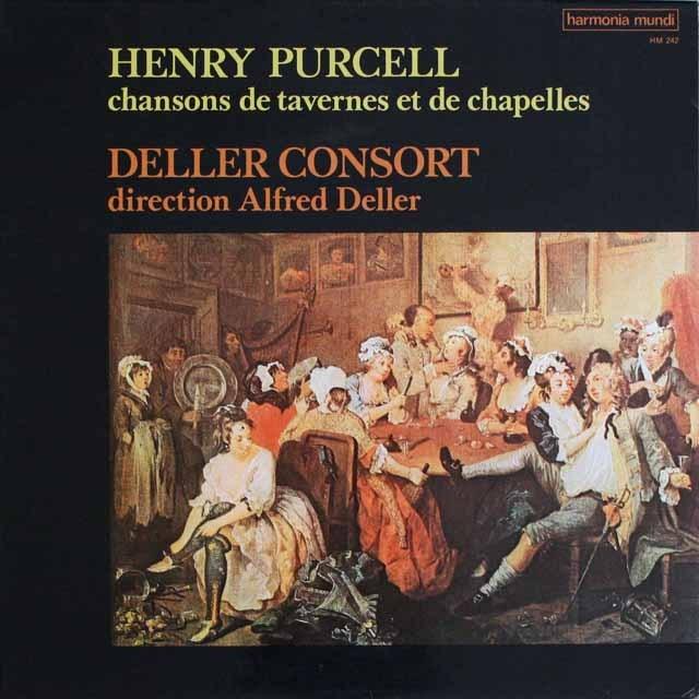 デラーのパーセル/「聖チェチリアへの領歌」ほか  仏HM   3305 LP レコード