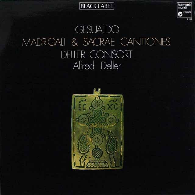 デラーのジュズアルド/マドリガル集 仏HM 3305 LP レコード