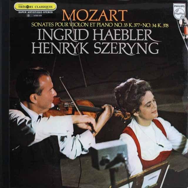 シェリング&ヘブラーのモーツァルト/ヴァイオリンソナタ第33、34番 仏PHILIPS 3305 LP レコード