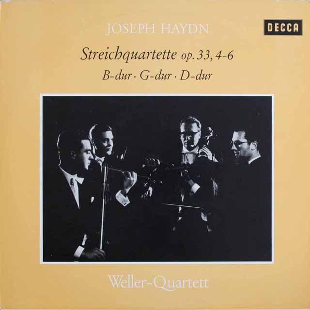 ウェラー四重奏団のハイドン/弦楽四重奏曲第40~42番  独DECCA  2534 LP レコード
