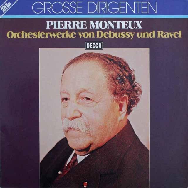 モントゥーのドビュッシー&ラヴェル/「ダフニスとクロエ」ほか 独DECCA 3307 LP レコード