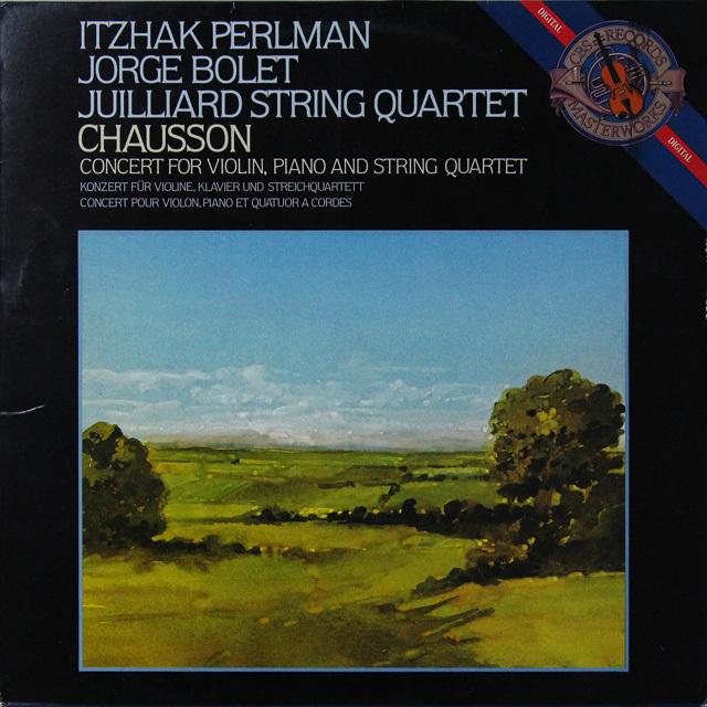 パールマン&ボレットらのショーソン/コンセール 蘭CBS 3290 LP レコード