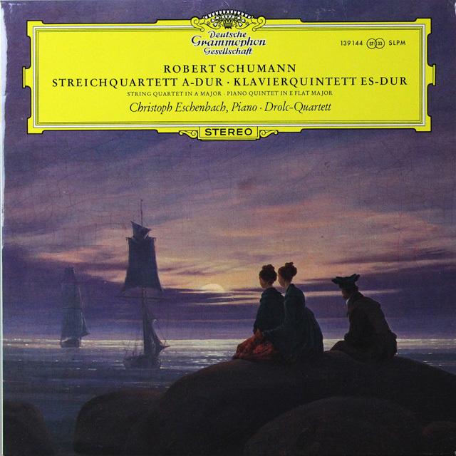 エッシェンバッハ&ドロルツ四重奏団のシューマン/ピアノ五重奏曲ほか 独DGG 2723 LP レコード