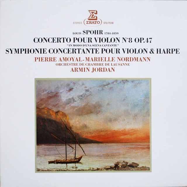 アモイヤル、ジョルダンのシュポーア/ヴァイオリン協奏曲第8番ほか 仏ERATO 3307 LP レコード