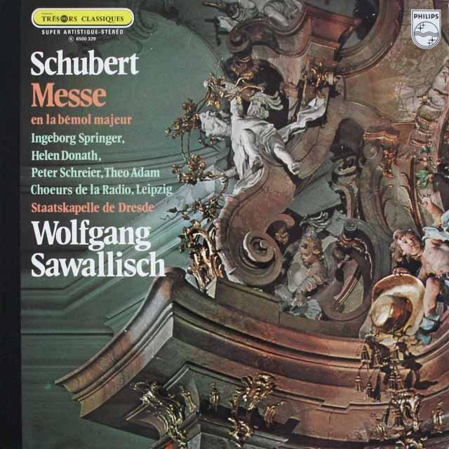 サヴァリッシュのシューベルト/ミサ曲第5番  仏PHILIPS 3307 LP レコード