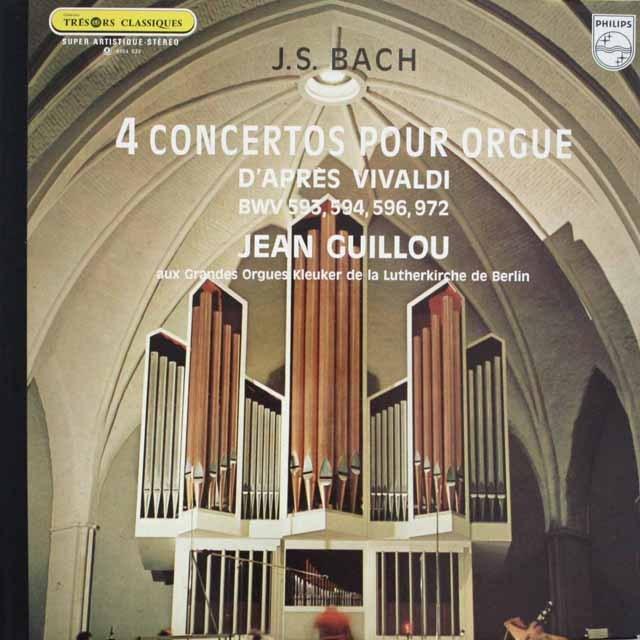ギューのバッハ/4つのオルガン協奏曲 仏PHILIPS 3307 LP レコード