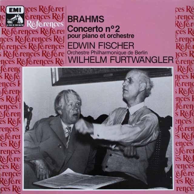 フィッシャー&フルトヴェングラーのブラームス/ピアノ協奏曲第2番 仏EMI(VSM)  3307 LP レコード