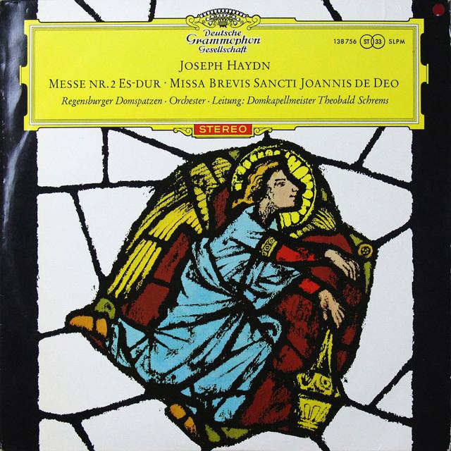 【赤ステレオ/独最初期盤】 シュレムスのハイドン/ミサ曲第2番ほか 独DGG 3290 LP レコード