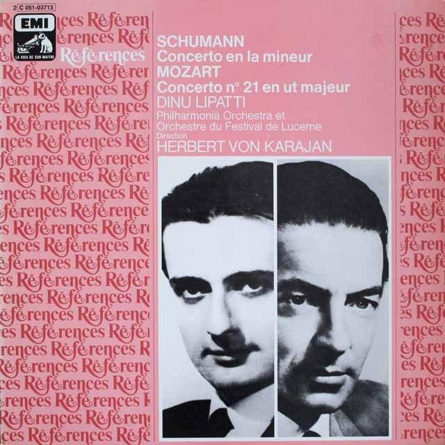 カラヤン&リパッティのシューマン&モーツァルト/ピアノ協奏曲集  仏EMI(VSM)   2534 LP レコード