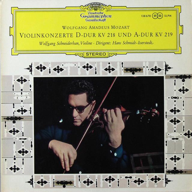 シュナイダーハンのモーツァルト/ヴァイオリン協奏曲第4&5番 独DGG 3290 LP レコード
