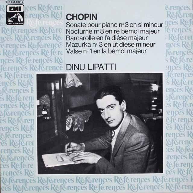 リパッティのショパン/ピアノソナタ第3番ほか  仏EMI(VSM)   2534 LP レコード