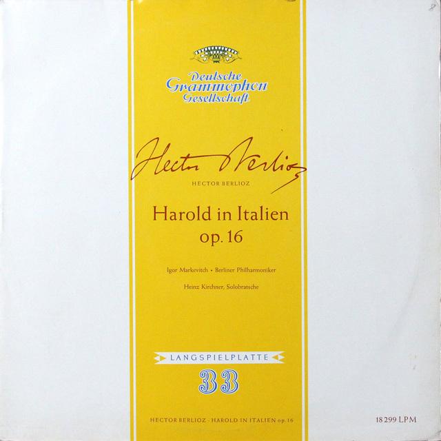 マルケヴィチのベルリオーズ/イタリアのハロルド 独DGG 2725 LP レコード
