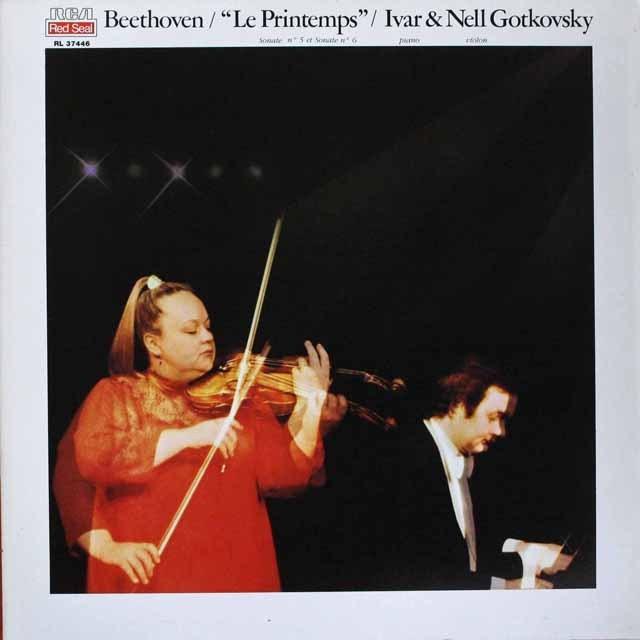 ゴトコフスキー兄妹のベートーヴェン/ヴァイオリンソナタ第5番「春」、第6番 仏RCA 3307 LP レコード