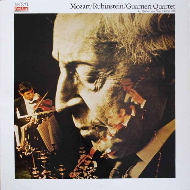ルービンシュタイン&ガルネリ四重奏団のモーツァルト/ピアノ四重奏曲集 仏RCA 3307 LP レコード