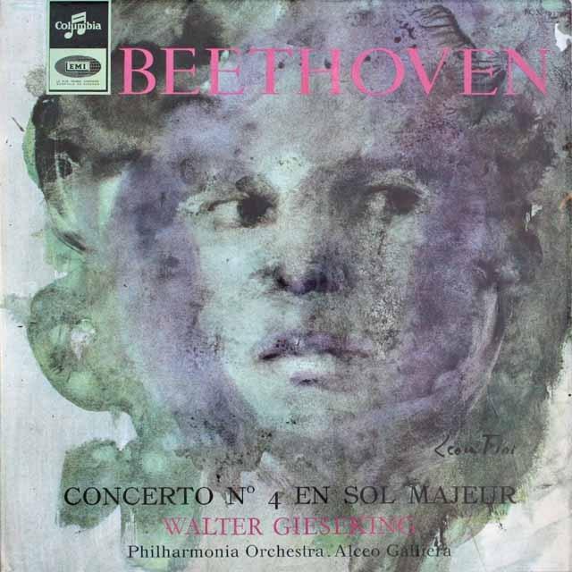 ギーゼキングのベートーヴェン/ピアノ協奏曲第4番 仏Columbia 3307 LP レコード
