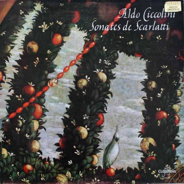 チッコリーニのスカルラッティ/ソナタ集 仏Columbia 3307 LP レコード