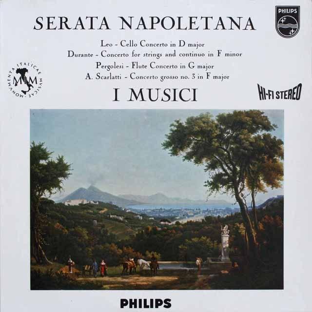 イ・ムジチの「セラータ・ナポリターナ」 スカルラッティ/合奏協奏曲ほか 蘭PHILIPS 3307 LP レコード