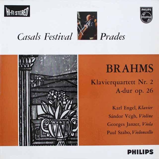 エンゲル、ヴェーグらのブラームス/ピアノ四重奏曲第2番 蘭PHILIPS 3307 LP レコード