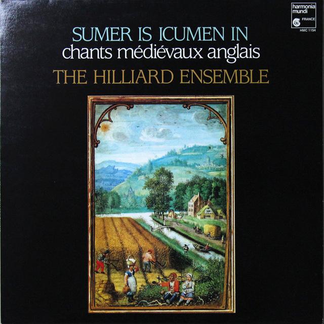 ヒリヤード・アンサンブルの「中世イギリスの歌」 仏HM 2725 LP レコード