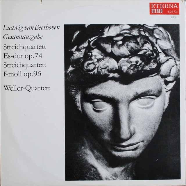ウェラー四重奏団のベートーヴェン/弦楽四重奏曲第10番ほか    独ETERNA   2530 LP レコード