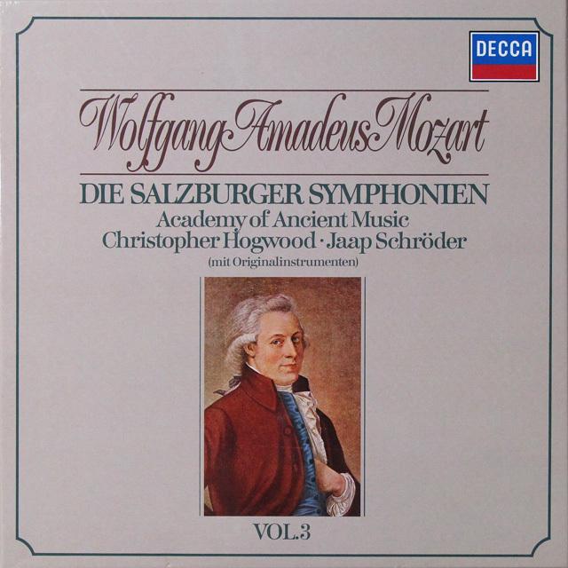 ホグウッドのモーツァルト/ザルツブルク交響曲集 vol.3 独DECCA 2725 LP レコード
