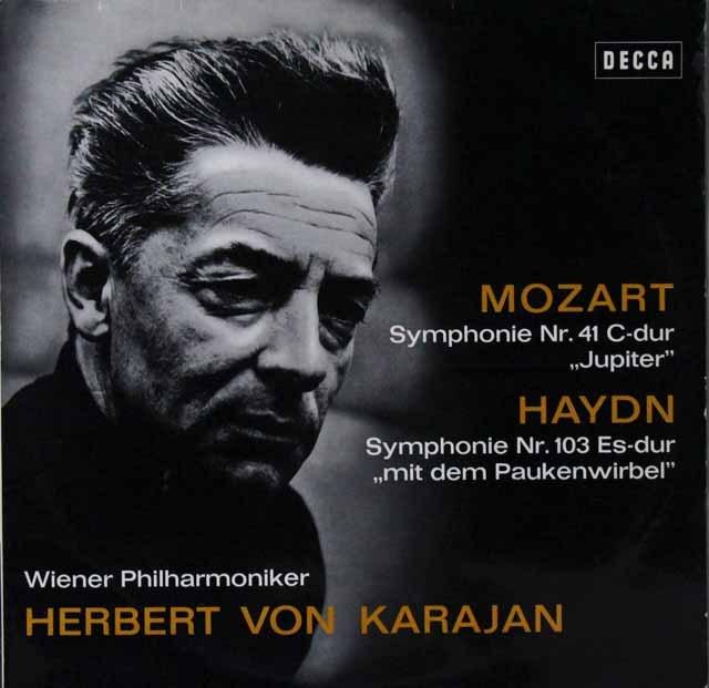 カラヤンのモーツァルト/交響曲第41番「ジュピター」ほか 独DECCA 3298 LP レコード