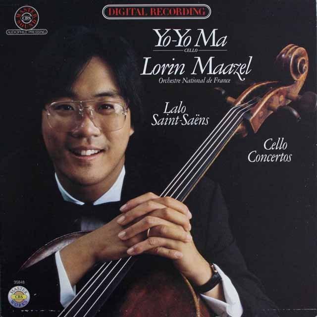 ヨーヨー・マ&マゼールのサン=サーンス/チェロ協奏曲ほか   独CBS     2530 LP レコード