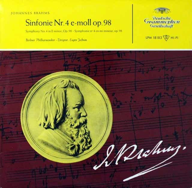 ヨッフムのブラームス/交響曲第4番 独DGG 3298 LP レコード