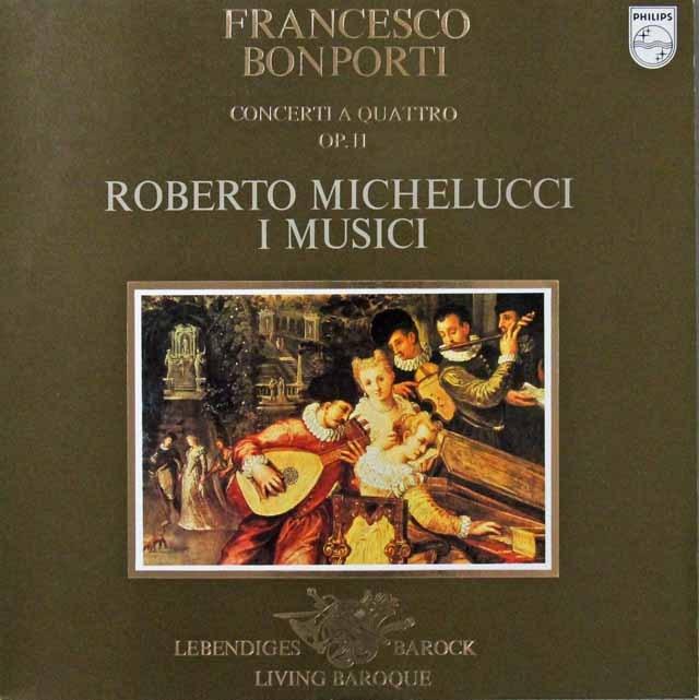 ミケルッチ&イ・ムジチのボンポルティ/10の合奏協奏曲より 蘭PHILIPS 3298 LP レコード