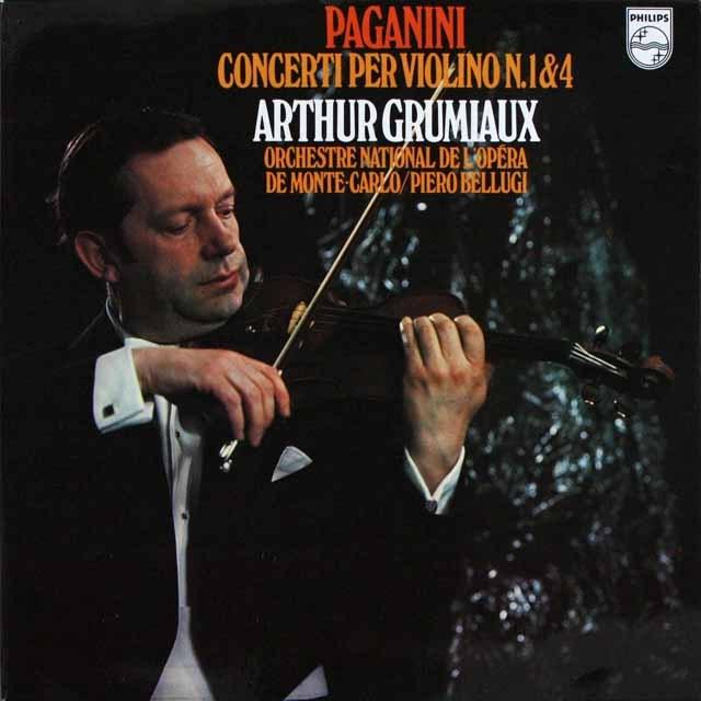 グリュミオーのパガニーニ/ヴァイオリン協奏曲第1&4番  独PHILIPS    2532 LP レコード