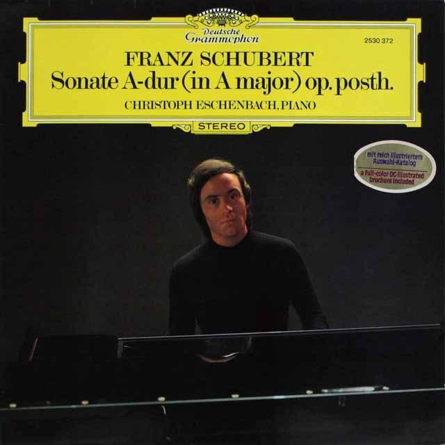 エッシェンバッハのシューベルト/ピアノソナタ第20番 独DGG 3306 LP レコード