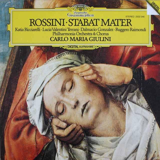 ジュリーニのロッシーニ/スターバト・マーテル  独DGG    2531 LP レコード