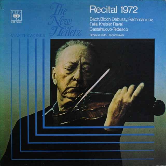 ハイフェッツ リサイタル1972  独CBS    2531 LP レコード