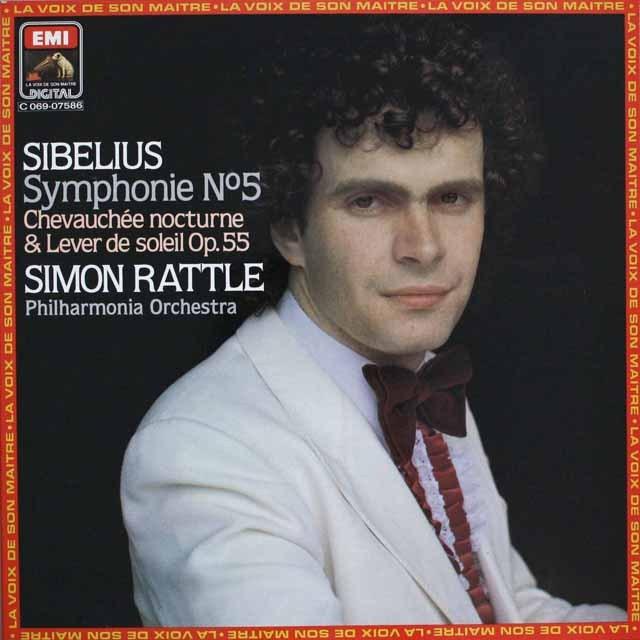 ラトルのシベリウス/交響曲第5番ほか 仏VSM(EMI) 3308 LP レコード