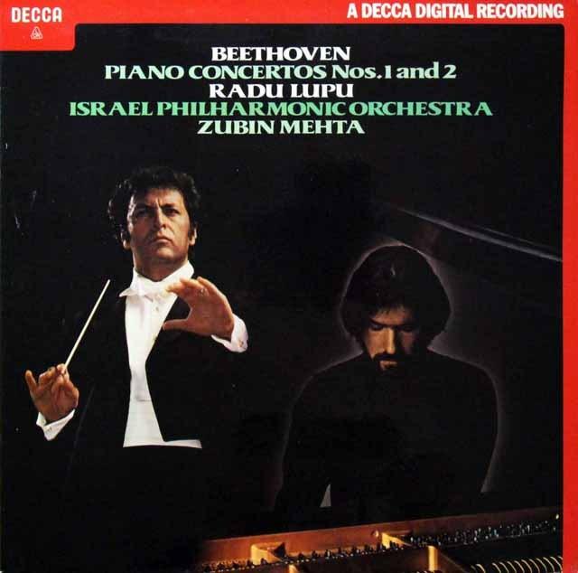【オリジナル盤】 ルプー&メータのベートーヴェン/ピアノ協奏曲第1&2番 英DECCA 3298 LP レコード