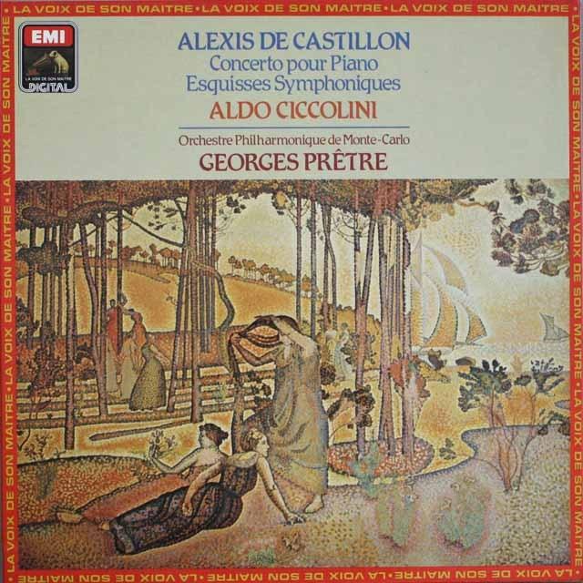 チッコリーニ&プレートルのカスティヨン/ピアノ協奏曲ほか 仏EMI(VSM) 3308 LP レコード