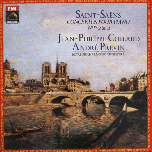 プレヴィン&コラールのサン=サーンス/ピアノ協奏曲第2&4番 仏EMI(VSM) 3308 LP レコード