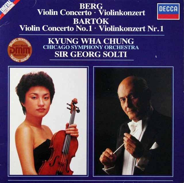 チョン&ショルティのベルク&バルトーク/ヴァイオリン協奏曲集 独DECCA 3298 LP レコード