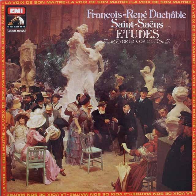 デュシャーブルのサン=サーンス/練習曲集 仏EMI(VSM) 3308 LP レコード