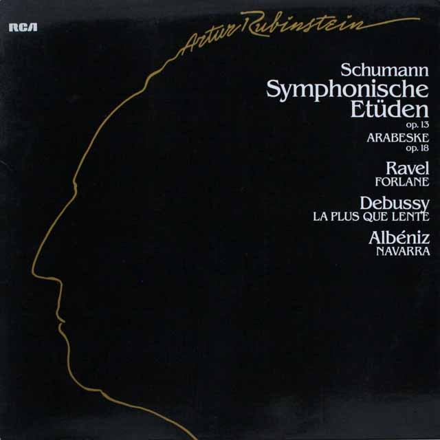 ルービンシュタインのシューマン/交響的練習曲ほか 独RCA 3308 LP レコード