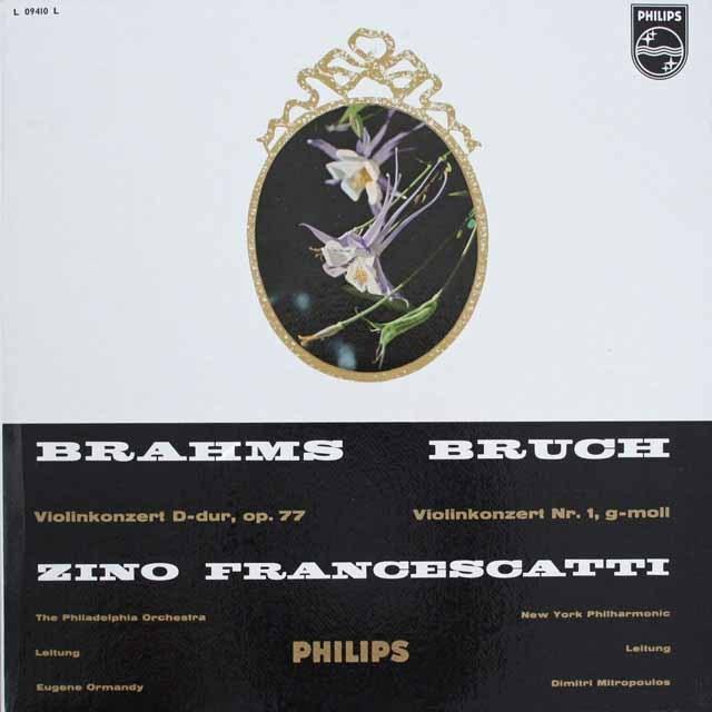 フランチェスカッティのブラームス&ブルッフ/ヴァイオリン協奏曲集 独PHILIPS   2535 LP レコード