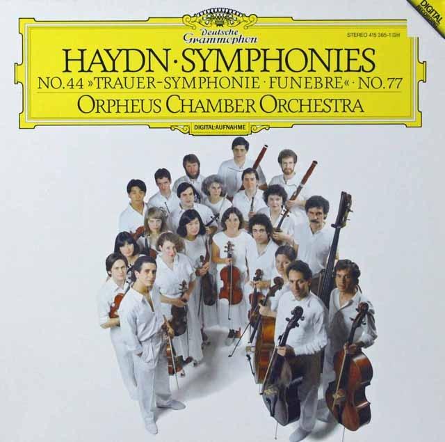 オルフェウス室内管弦楽団のハイドン/交響曲第44&77番 独DGG 2811 LP レコード