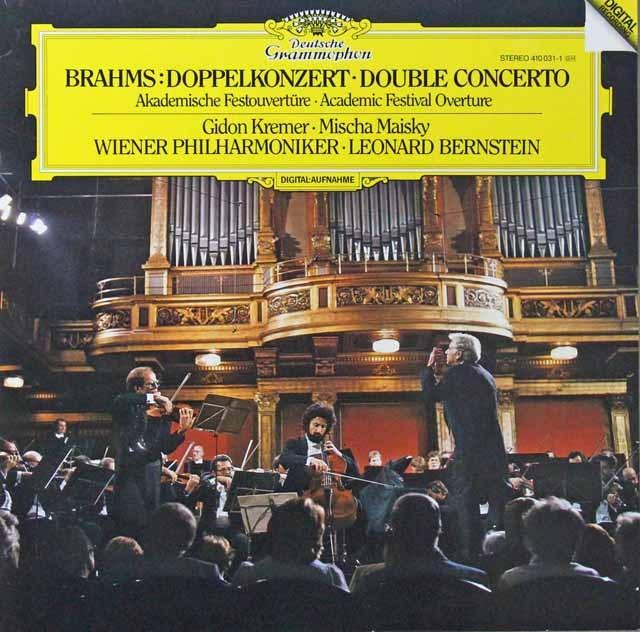 クレーメル、マイスキー&バーンスタインのブラームス/ヴァイオリンとチェロのための二重協奏曲ほか 独DGG 2811 LP レコード