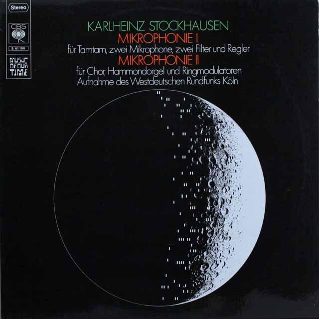 シュトックハウゼン/ミクロフォニー1、2 独CBS 3308 LP レコード