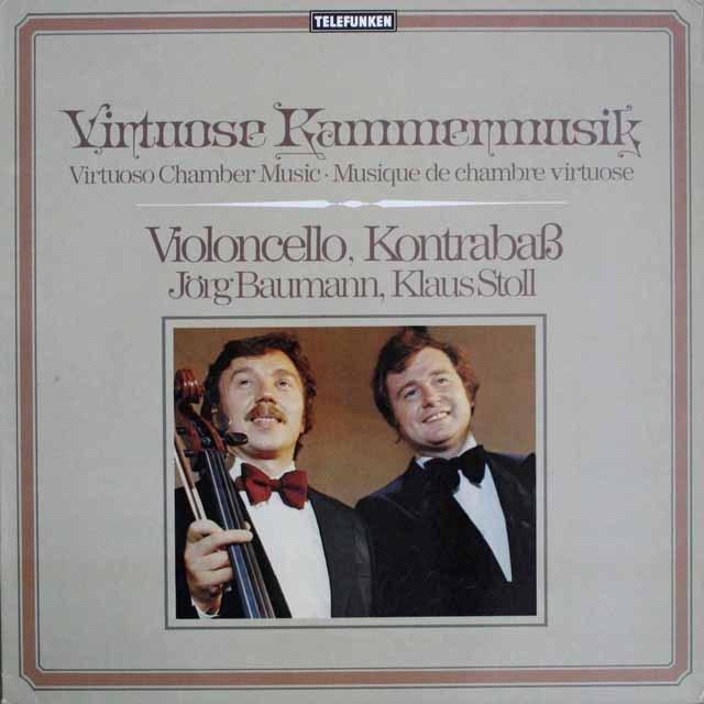 シュトゥール&バウマンのチェロとコントラバスのための作品集 独telefunken 3308 LP レコード