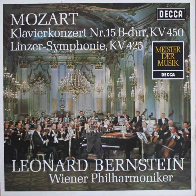 バーンスタインのモーツァルト/ピアノ協奏曲第15番ほか 独DECCA 3308 LP レコード