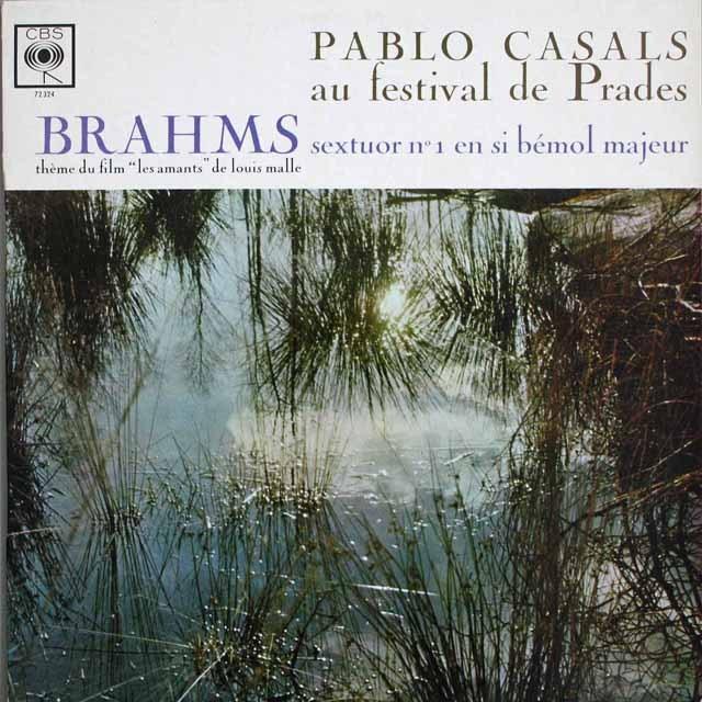 カザルスらのブラームス/弦楽六重奏曲第1番  仏CBS    2536 LP レコード