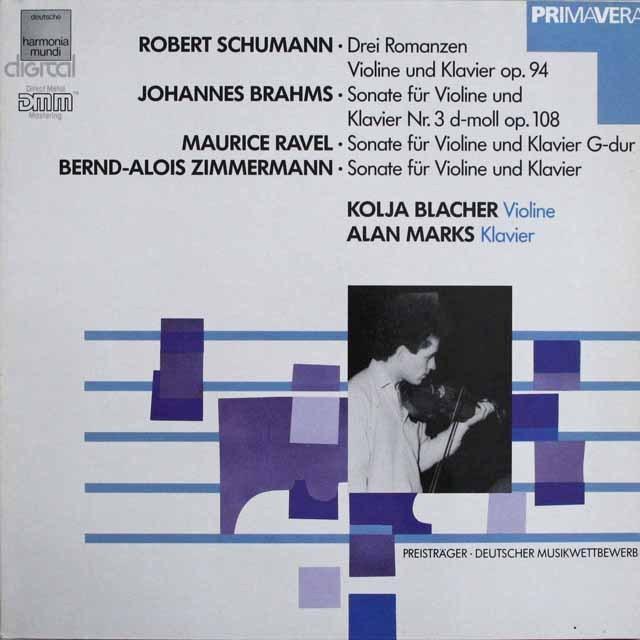 ブラッハーのブラームス/ヴァイオリンソナタ第3番ほか 独HM 3308 LP レコード