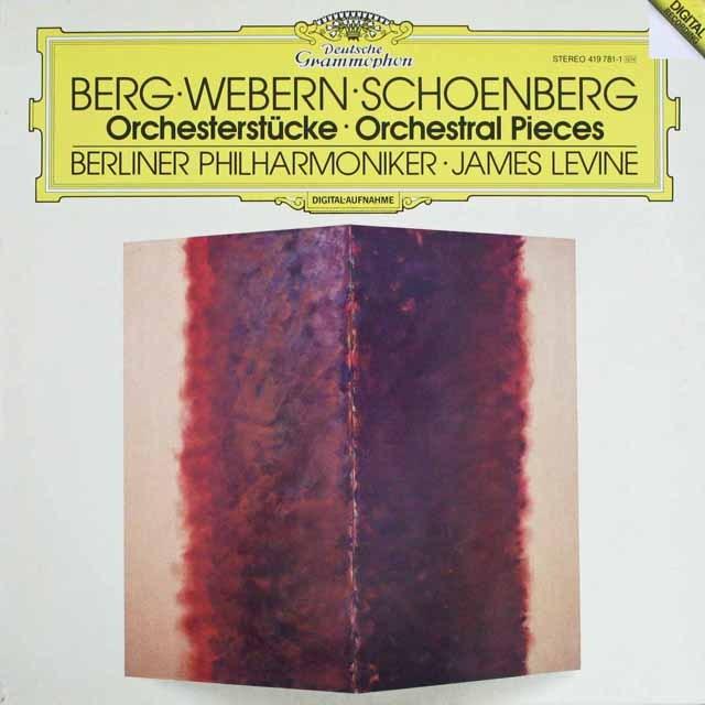 レヴァインのベルク、シューンベルク&ヴェーベルン/管弦楽曲集 独DGG 3309 LP レコード