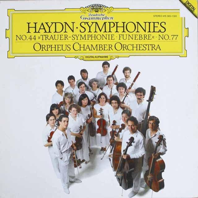 オルフェウス室内管のハイドン/交響曲第44&77番 独DGG    2537 LP レコード